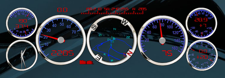 horizintal compass rpm speed obd