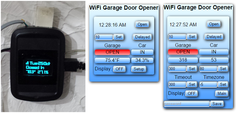 Arduino ESP8266 WiFi Garage Door Opener