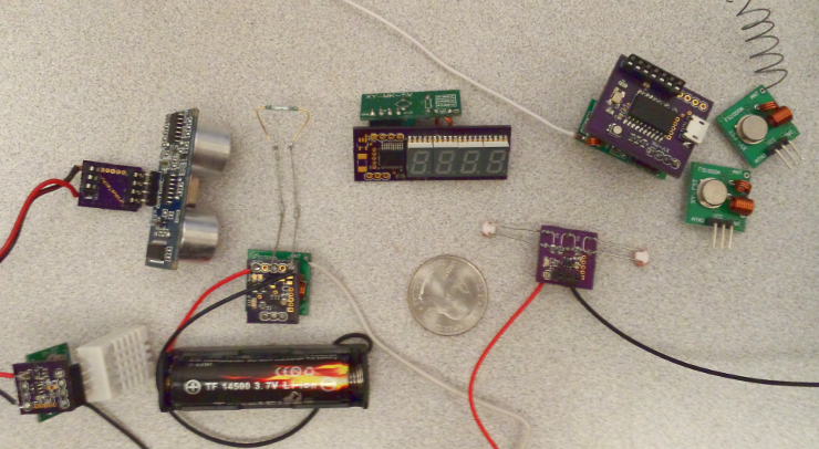 Wireless RF house sensor modules